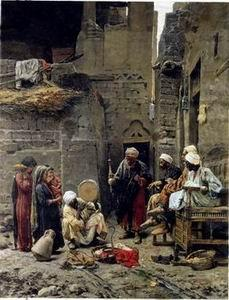 unknow artist Arab or Arabic people and life. Orientalism oil paintings 215
